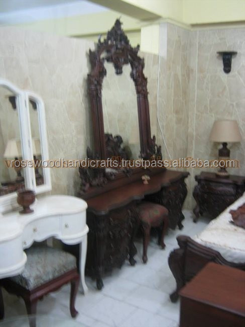 Wooden Carved Bed set , Rosewood Carved Bed set , wooden Bed set, wooden Bed designs, latest Carved Bed set , Luxury furniture