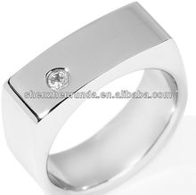 Men's Stainless Steel and CZ-Accented Saddle Ring Manufacturer & Factory & Supplier
