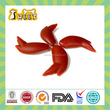 Hot selling backed bacon flavor chicken wing shaped dog dental chews