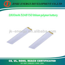 Rechargeable 3.7v 2800mAh 3248150 lithium polymer battery for tracking device with no memory effect