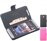 Doormoon Genuine wallet leather case for HTC one mini m4