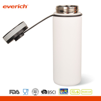 Vacuum insulated stainless steel water bottle with lid