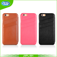 Newest Style Premium Mobile Phone Flip Leather Case with Card Slot for iphone 6