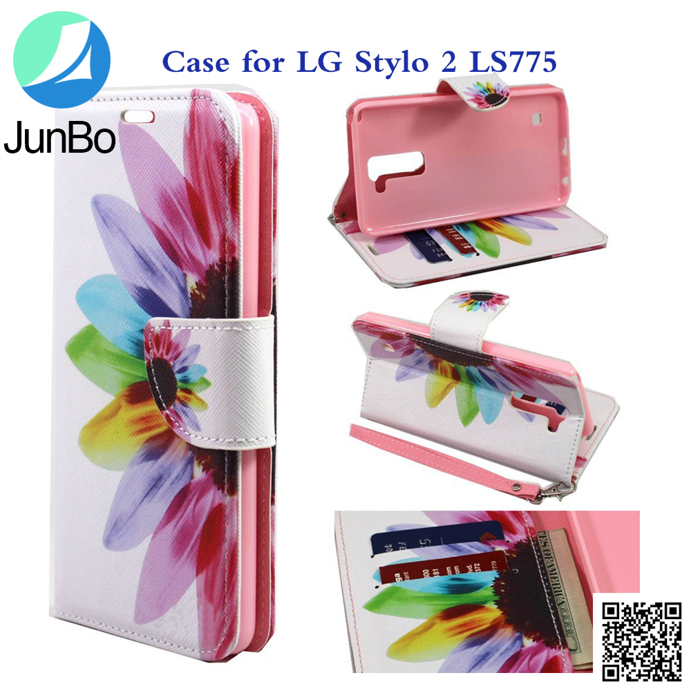 Hot Selling Phone Accessories Colorful Pattern TPU Leather Phone case For LG LS775