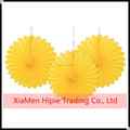 Yellow Honeycomb Tissue Paper Fan Hanging Decorative Flower Party Wedding Decoration