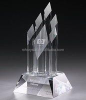 Optical crystal 6 diamond tower trophy MH-J0779