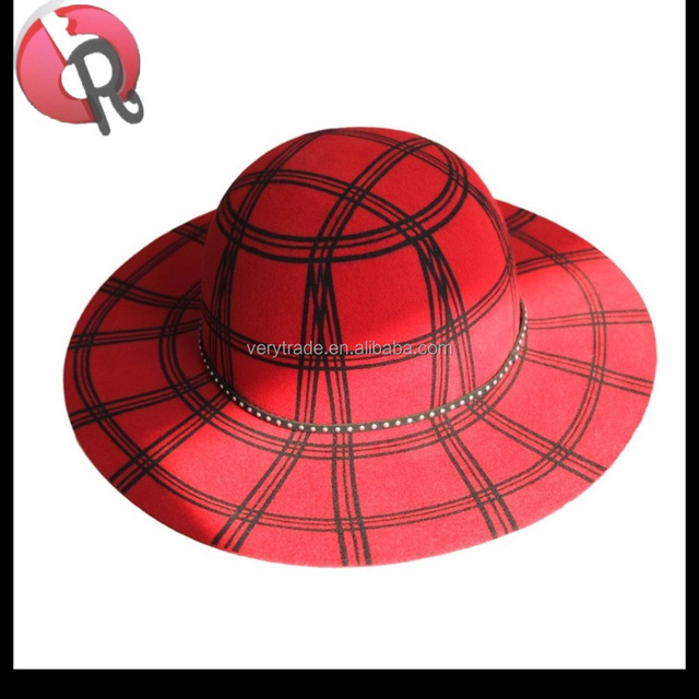 Men's Crushable Wool Felt Fedora Fashion Cheap Hats