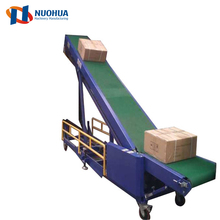 Customize hopper portable truck loading belt conveyor for grain silo