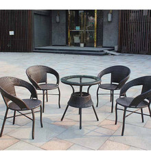 Outdoor luxury waterproof chairs tables used Coffee House furniture outdoor