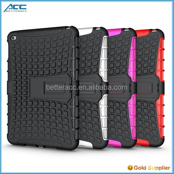 2 in 1 pattern shockproof PC and TPU hybrid case for ipad mini 4