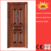 Popular styles exterior single french steel door SC-S008
