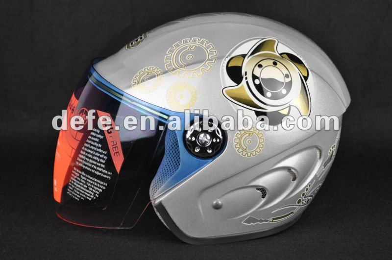 newest developed fashion rsilver mirror visor helmet