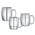 double wall stainless steel beer mug with lid