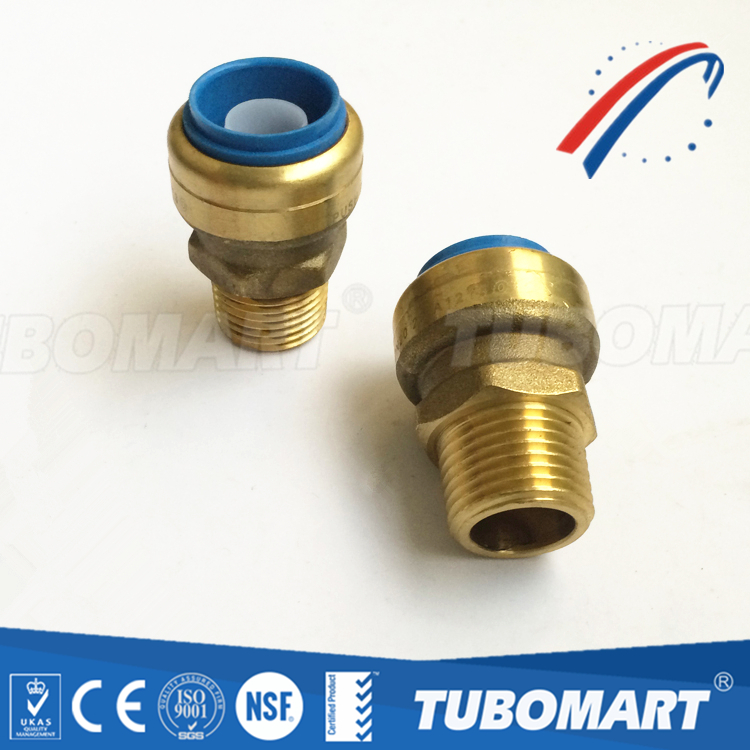 Lead free push fitting connectors to connect copper pipes for Copper pipe to plastic pipe
