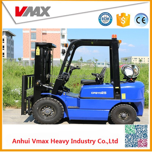 3Ton LPG/GASOLINE Container Forklift with Full Free Mast can Work In Container CPQYD30