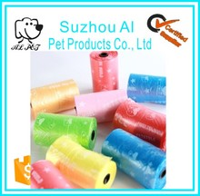 Pet Cleaning Waste Bags Environment Friendly Colorful Cat Dog Poop Bag
