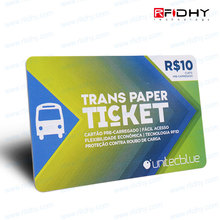 13.56MHz MIFARE (R) Card Eco-friendly RFID Card and RFID Paper Ticket Card