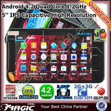 5 inch quad core smartphone dual sim with Android 4.2