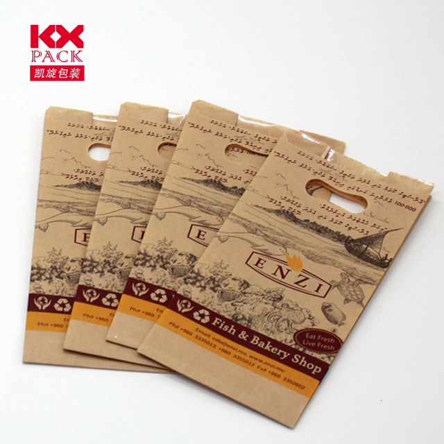Wholesale Custom 100G Paper Handle Recycle Shopping Kraft Brown Paper Bag