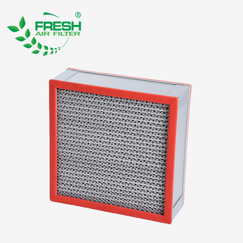 China high efficiency material large dust capture capacity custom h13 h14 air hepa filter