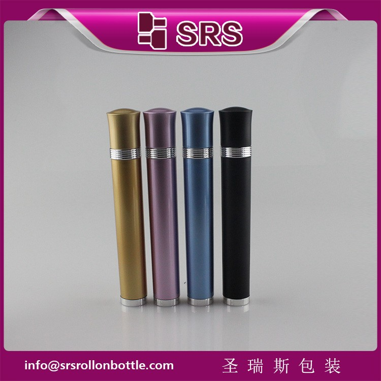 SRS luxury plastic 10ml vibrating eye roller bottle