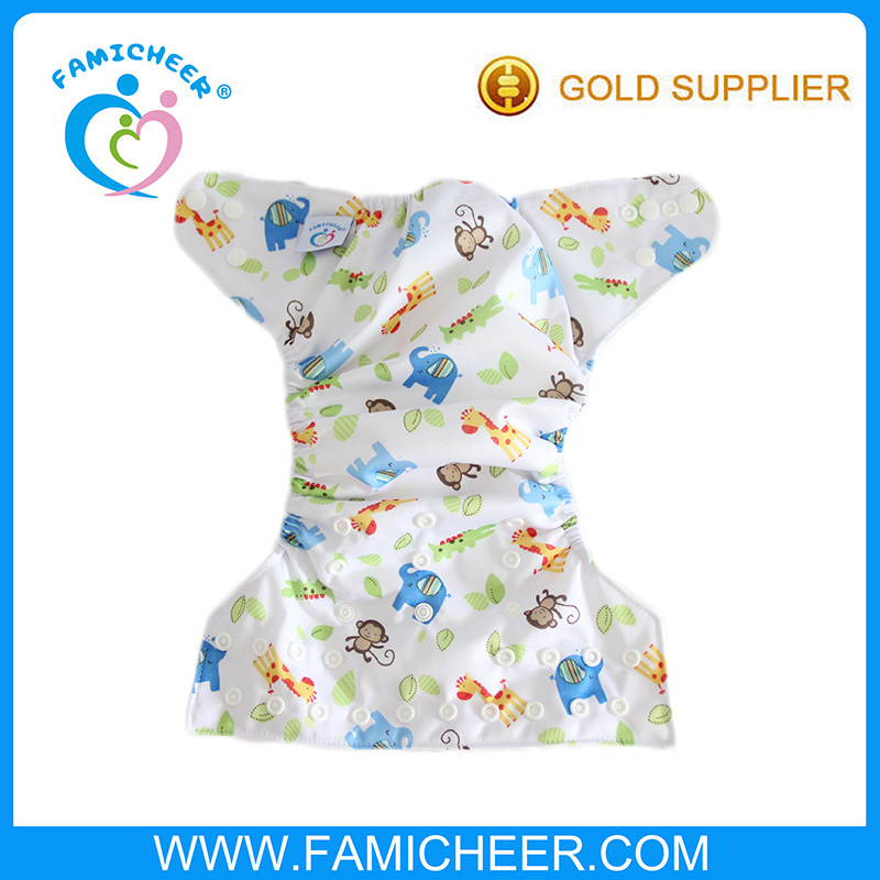 Distributors Wanted Friendly Sleepy Printed Wholesale One Size Hybrid Cloth Diaper