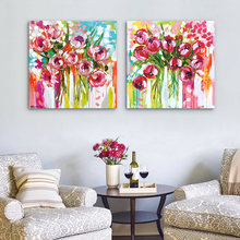 Beautiful Wall Decor Modern Flower Chinese Watercolor Painting