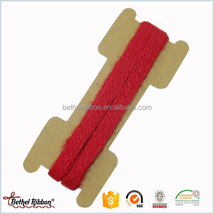 Good quality promotional burlap jute ribbon decoration