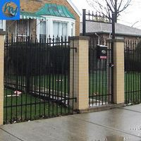 8ft x 5ft galvanized steel fence panels 8x8 fence pannels 96Metal Dupont wrought iron fence