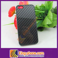 hot selling 100% real carbon fiber hard cell phone case for iphone 5