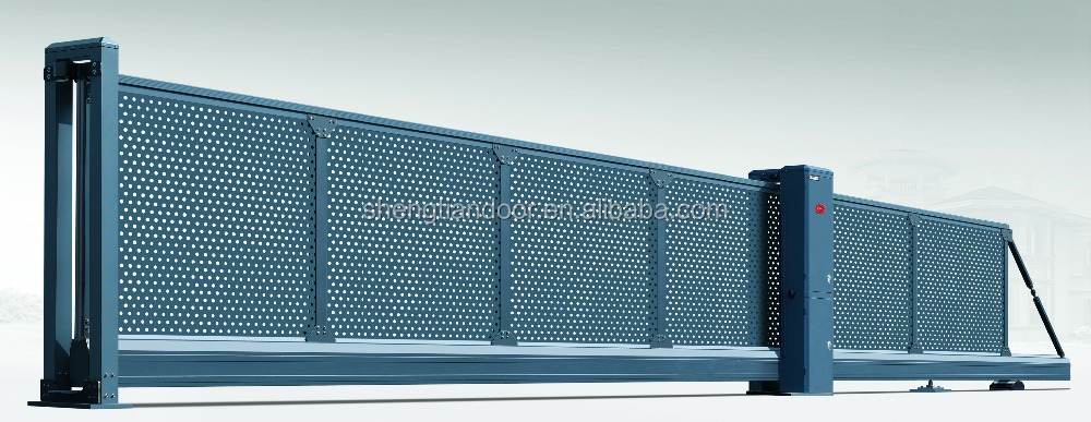 Aluminium automatic sliding cantilever gates for governments