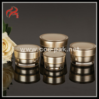 Cosmetic PMMA Acrylic Taper Round Packaging Cream Jars