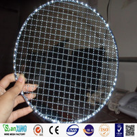 BBQ grill wire mesh/Galvanized crimped mesh/stainless steel barbecue netting