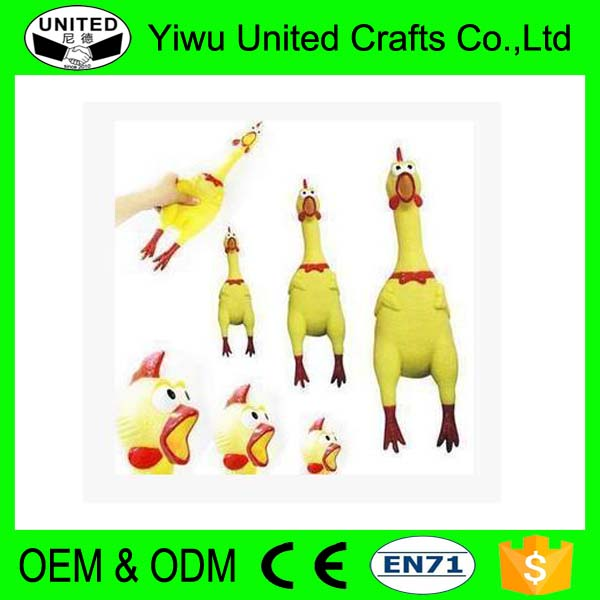 Promotion gifts shrilling scream squeeze plastic chicken toy