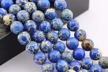 2.0mm Large Hole Hot Selling Round Lapis Imperial Jasper Semi Precious Stone Beads String