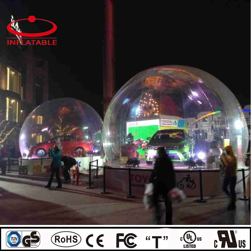 Large PVC transparent Camping showroom inflatable bubble tent