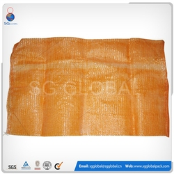 Orange Color PP Leno Net Firewood Mesh Bag