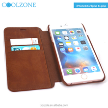 High quality textured flip wallet design for iphone 6 leather case,mobile phone accessories