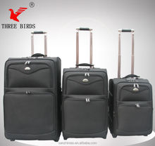 Hot Sale Fashional Luggage/Oxford EVA 1680D Fabric Trolley Cases / Travel Bag/ Wheel Suitcase/ Three Birds/ SANZHINIAO