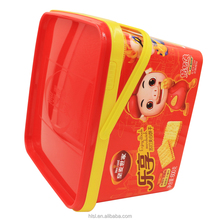 Hot Selling Food Grade Disposable Plastic Container,Biscuit Box with Handle,Customized Luxury Biscuits Packaging.