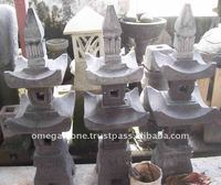 Premium Bali Natural Stone Products: Garden Natural Stone Lamp