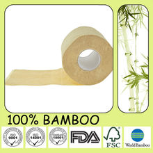 Eco-friendly Bamboo Toilet Tissue Paper Rolls