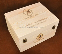 eco friendly cheap wooden wine box for sale,pine wood wooden wine box