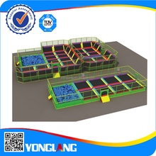 Bungee Outdoor Indoor Trampoline Park Best play trampoline park with foam pit