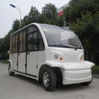 Electric 4 person utility vehicles AW6062KF shuttle bus with door