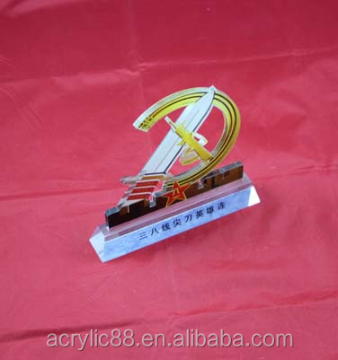 custom small silk screen boat sail shaped acrylic medal stands,acrylic medal display stands