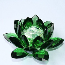 glass crystal lotus candleholder crystal lotus flower decoration