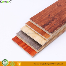 Eco-friendly wood plastic composite waterproof WPC indoor flooring/laminated flooring
