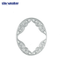 creative design embossing silver oval circle cutting dies