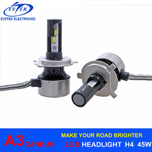 Newest DC24V 12V Car Led Headlight, 6000LM Per Bulb H1 H4 H7 H11 H13 9005 High Power Led Car Headlight, Motorcycle Led